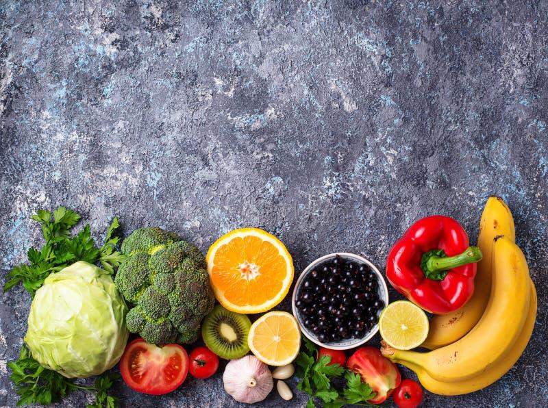 Nahrungsmittel reich im Vitamin C Gesundes Essen lizenzfreie stockfotos