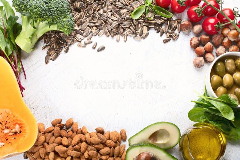 Nahrungsmittel reich in Vitamin E lizenzfreies stockfoto
