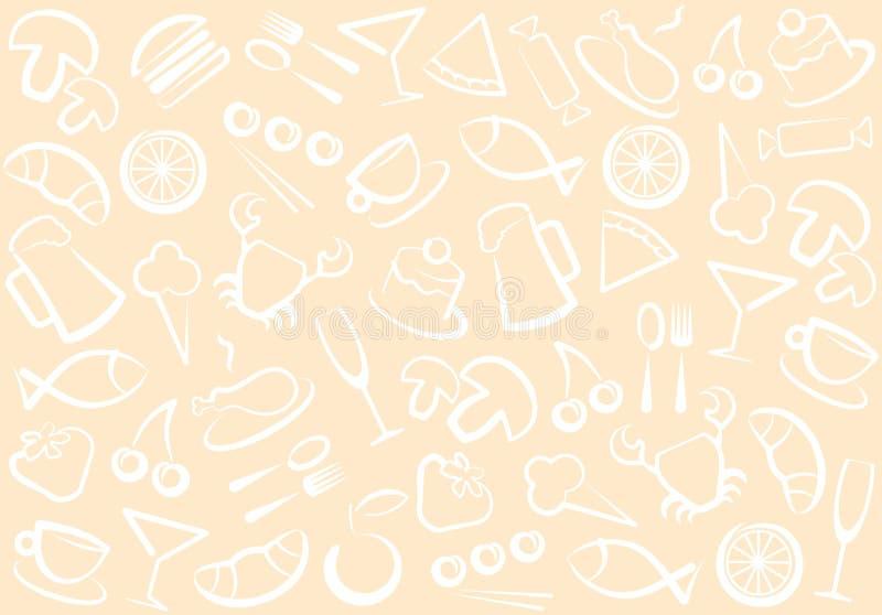 Nahrungsmittel- und Getränkmuster stock abbildung