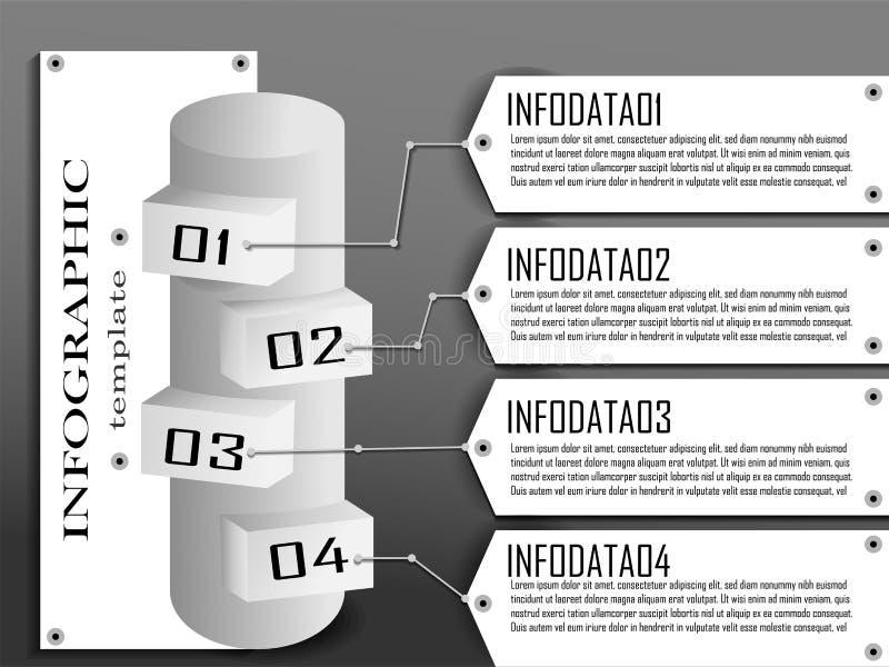 Nahrungsmittel- und Restaurantlogo templateVector infographic Schablone stock abbildung