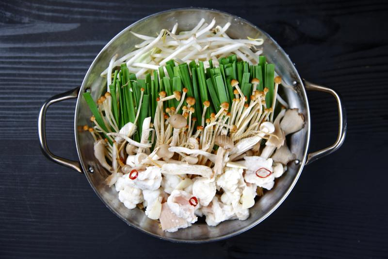 Nahrungsmittel würzige Innereien heißen Topfes lizenzfreies stockfoto