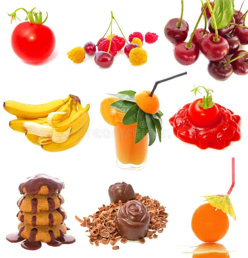Nahrungsmittelansammlung stockfoto
