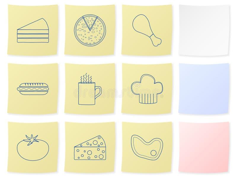 Nahrungsmittelaufkleber 2 lizenzfreie abbildung