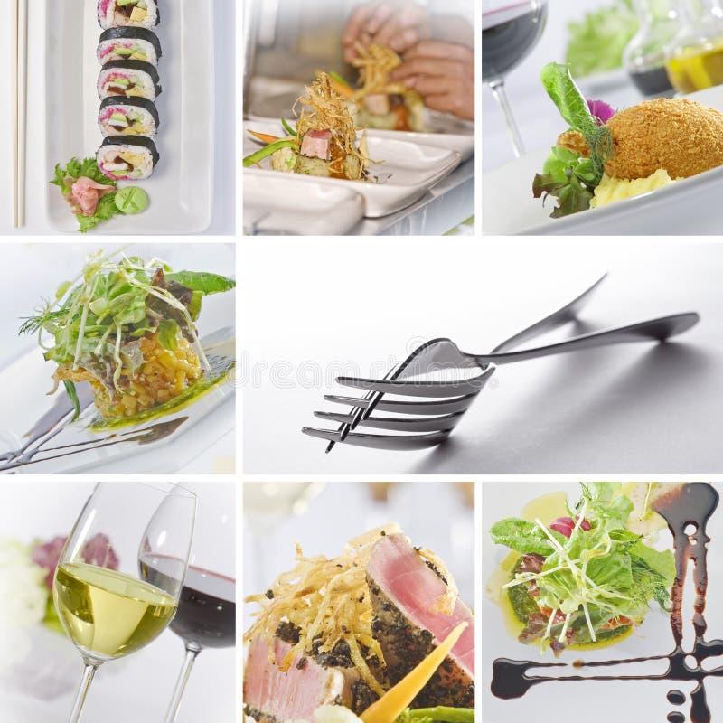 Nahrungsmittelcollage lizenzfreie stockbilder