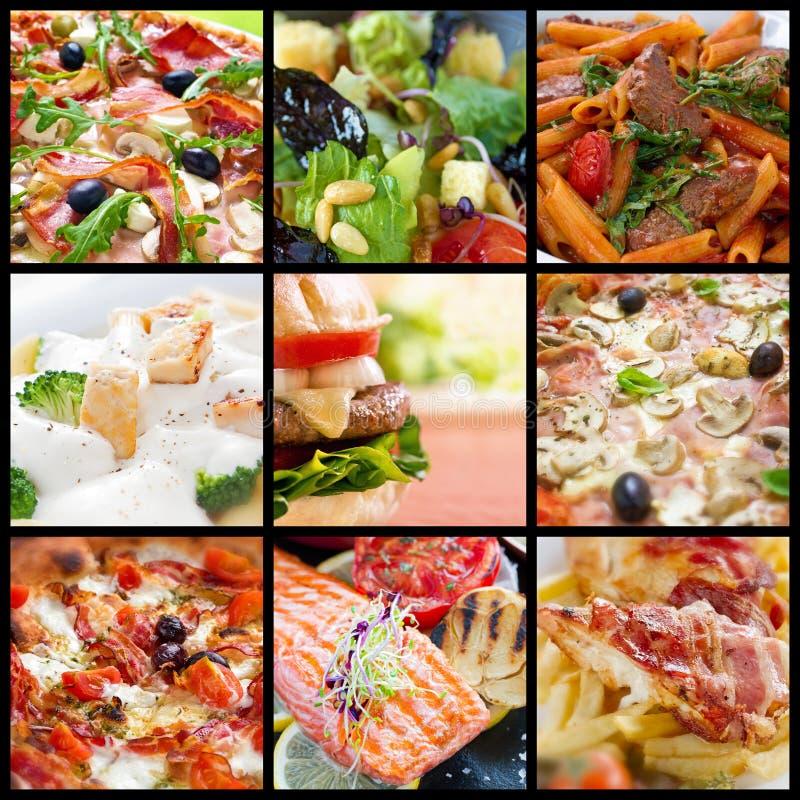 Nahrungsmittelcollage stockfotos