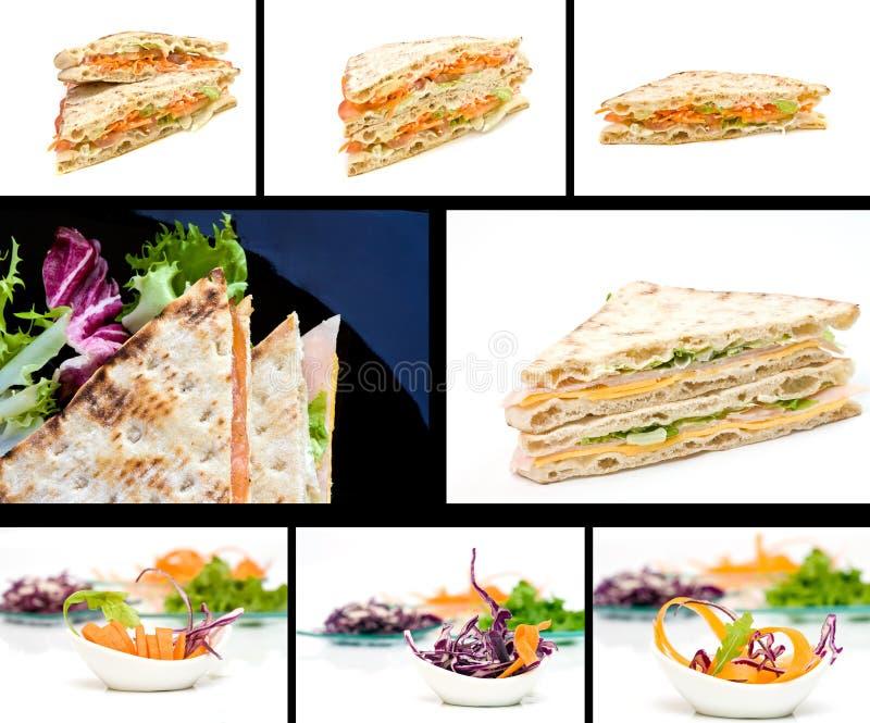 Nahrungsmittelcollage stockfoto