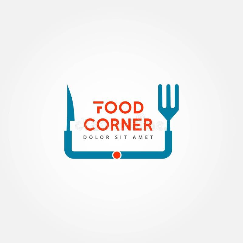 Nahrungsmitteleckvektor-Schablonen-Entwurfs-Illustration vektor abbildung