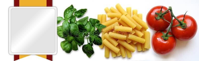 Nahrungsmittelfahne oder -vorsatz stock abbildung
