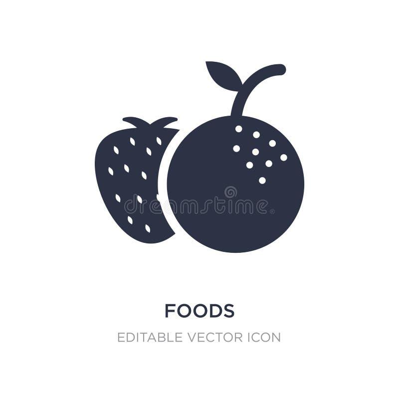 Nahrungsmittelikone auf weißem Hintergrund Einfache Elementillustration vom Nahrungsmittelkonzept stock abbildung
