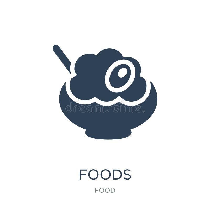 Nahrungsmittelikone in der modischen Entwurfsart Nahrungsmittelikone lokalisiert auf weißem Hintergrund einfaches und modernes fl vektor abbildung