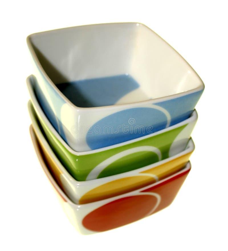 Nahrungsmittelschüsseln lizenzfreies stockbild