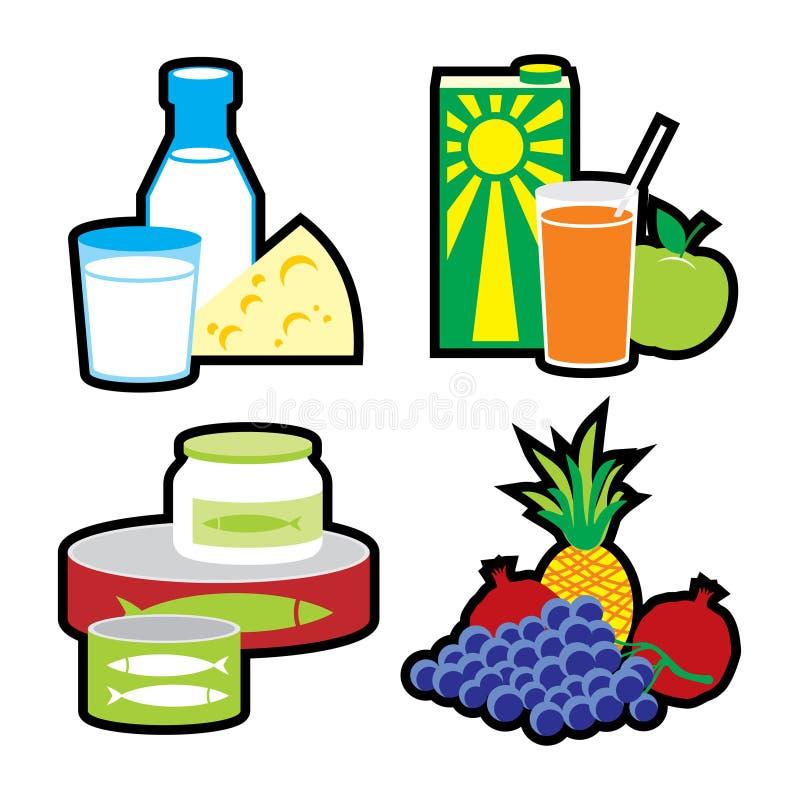 Nahrungsmittelset stock abbildung
