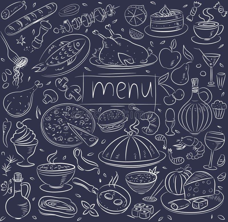 Nahrungsmittelskizze stock abbildung