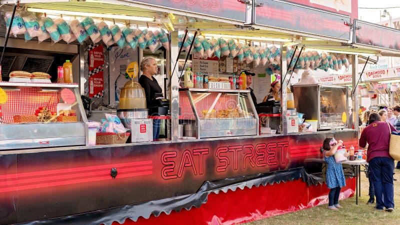 Nahrungsmittelstall-Verkäufer an der Land-Show stockfoto