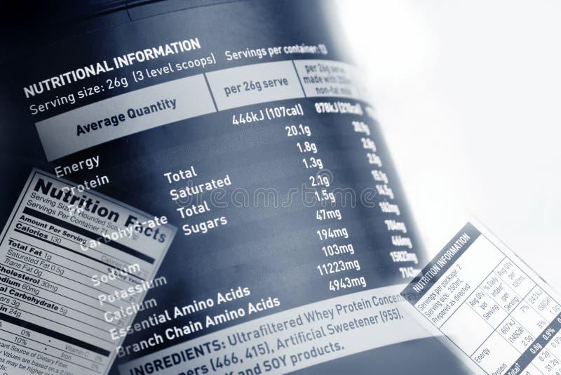 Nahrungstatsachen lizenzfreies stockfoto