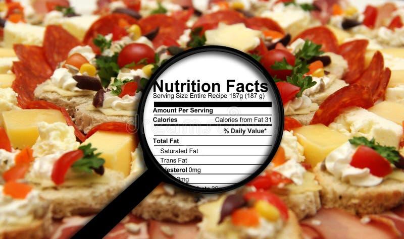 Nahrungstatsachen stockfotos
