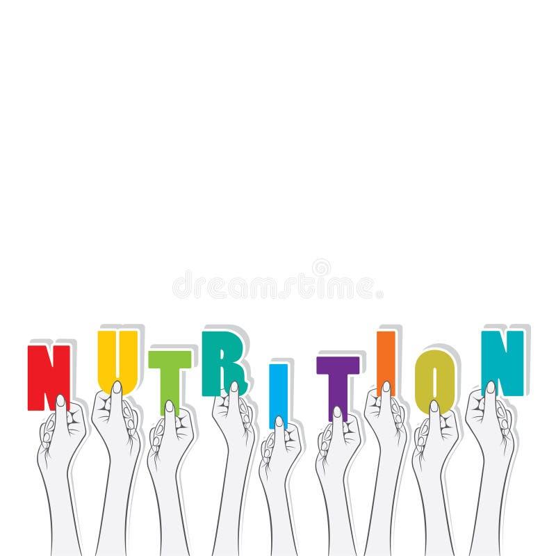 Nahrungstext-Fahnendesign stock abbildung