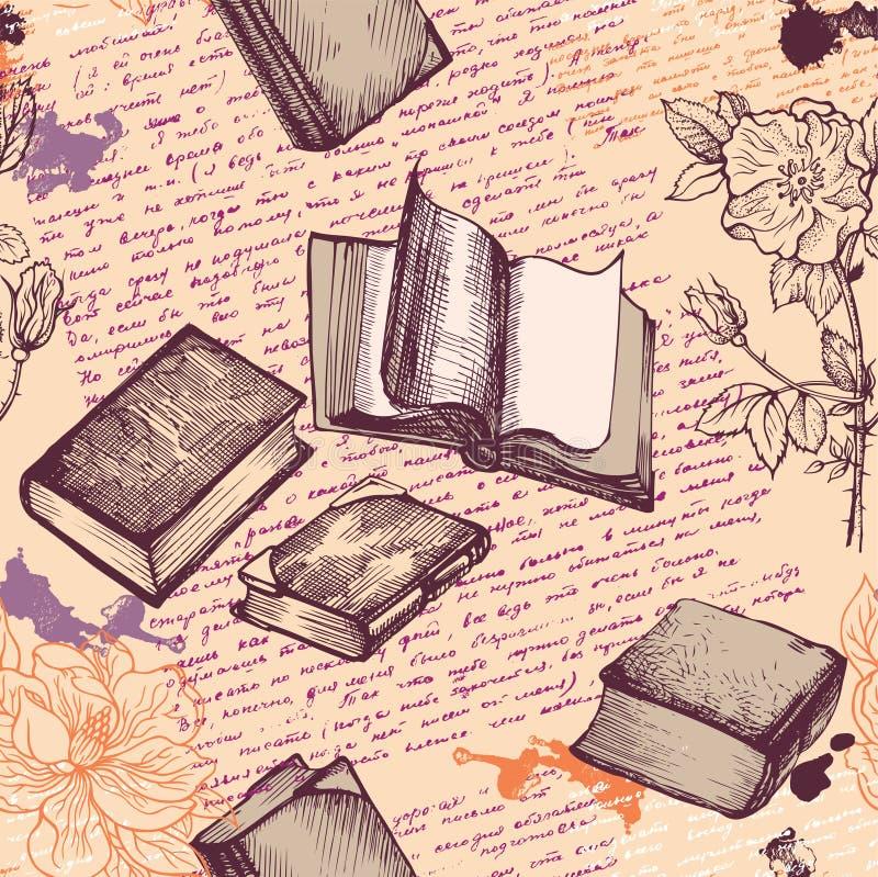 Nahtlos mit Büchern vektor abbildung