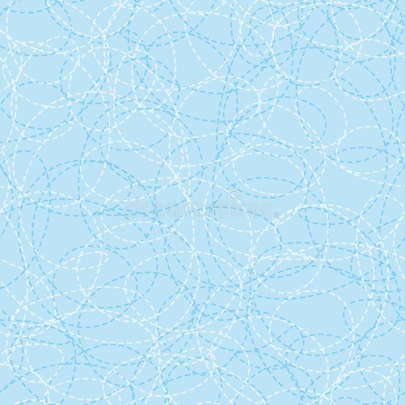 Nahtlos nähen Sie Muster vektor abbildung. Illustration von fliese ...
