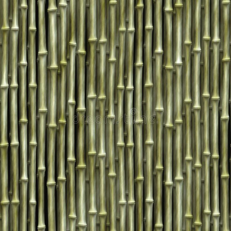 Nahtlose Bambusbeschaffenheit stock abbildung
