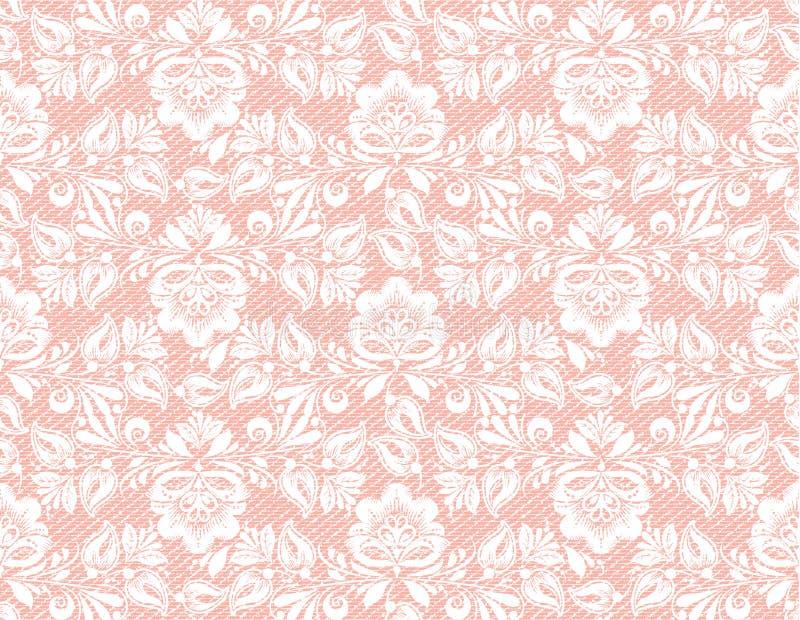 Nahtlose Beschaffenheit der modernen korallenroten Spitzes, großer Entwurf zu irgendwelchen Zwecken VektorRetro- Abbildung Kann a stock abbildung
