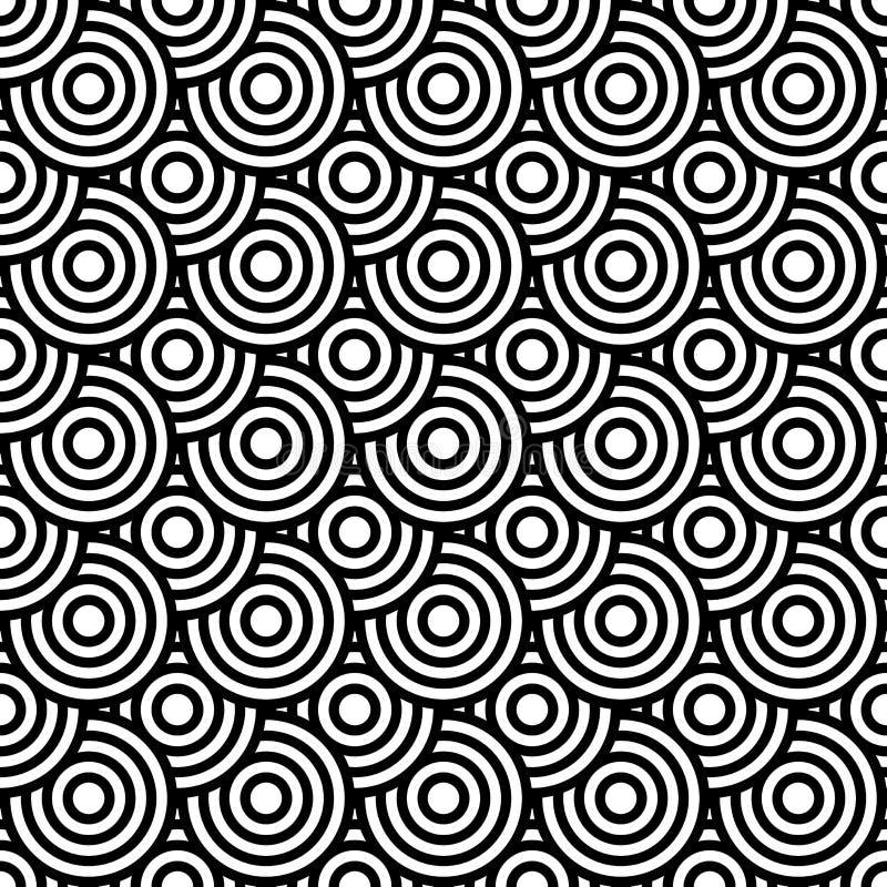 Nahtlose Beschaffenheit der OPkunst mit Kreiselementen. vektor abbildung