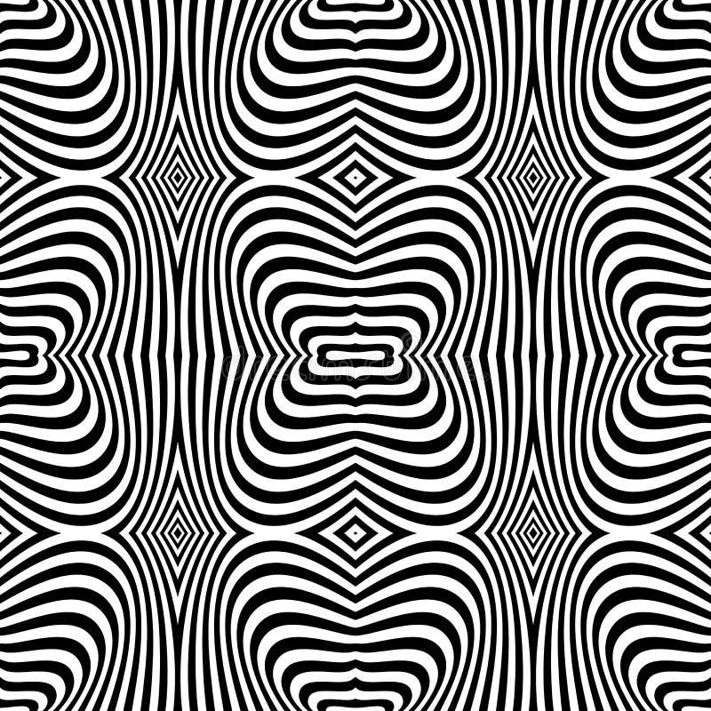 Nahtlose Beschaffenheit der OPkunst. Zebramusterdesign. vektor abbildung