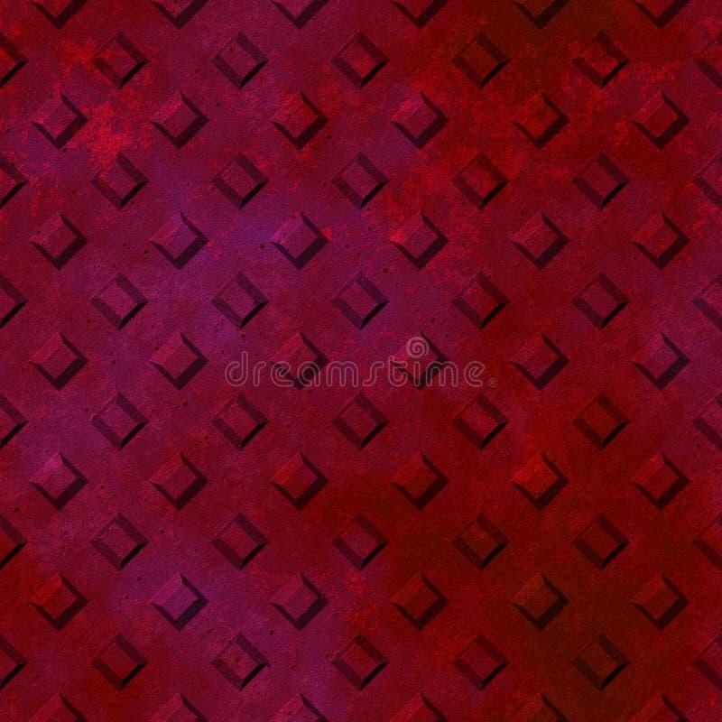 Nahtlose Beschaffenheit der Rostdiamant-Platte stock abbildung