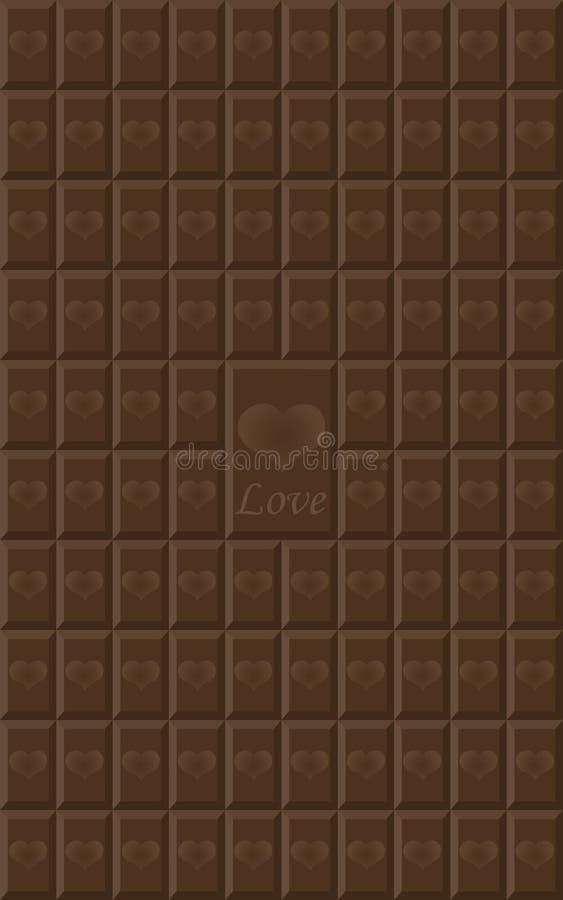 Nahtlose Beschaffenheit der Schokolade,  lizenzfreie abbildung