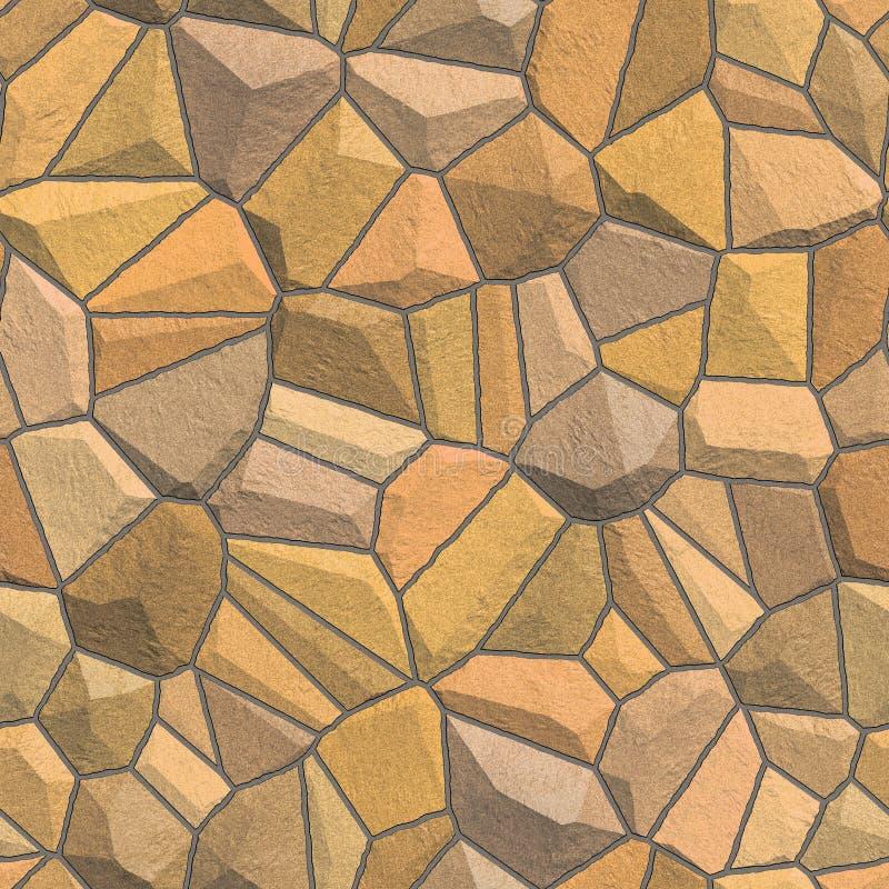 Nahtlose Beschaffenheit der Steinwand stock abbildung