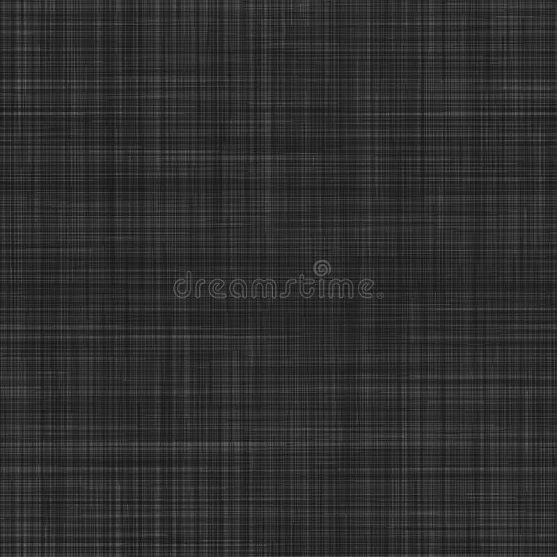 Nahtlose Beschaffenheit des schwarzen Segeltuches. stock abbildung