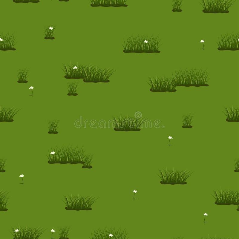 Nahtlose Beschaffenheit des Sommers des grünen Grases und der Blumen Verschiedene Varianten der Farbe sind m?glich vektor abbildung