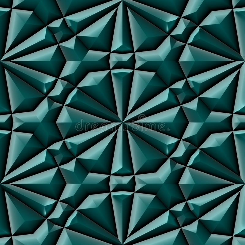 Nahtlose Beschaffenheit oder Hintergrund der grünen Mayaverzierung vektor abbildung