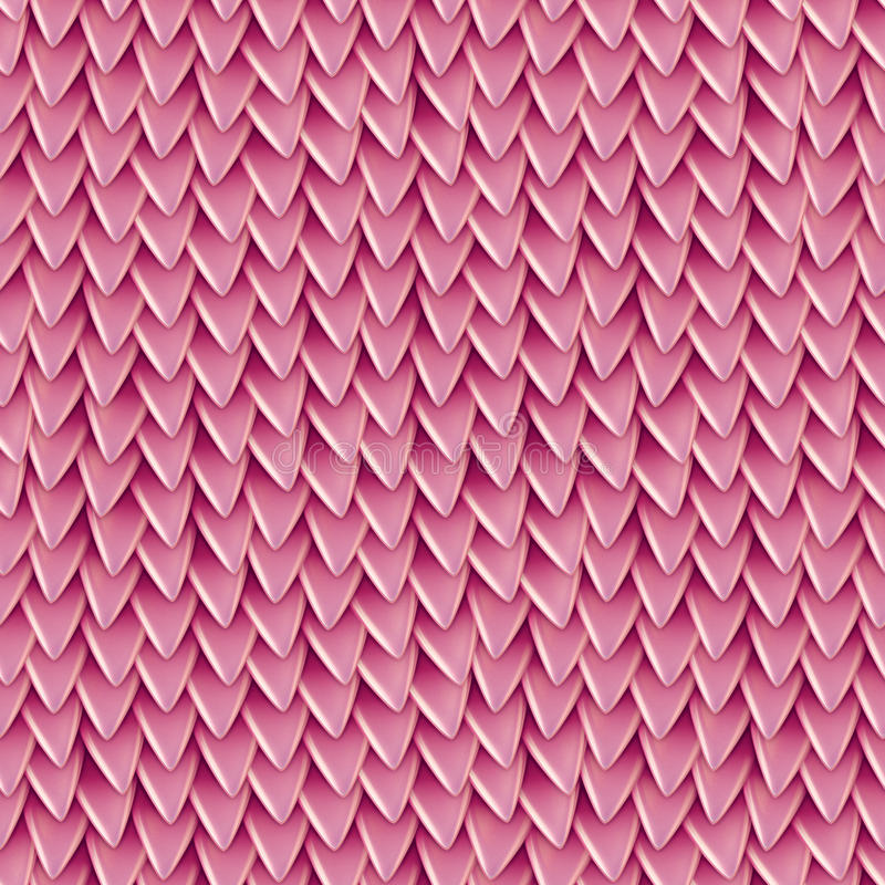 Nahtlose Beschaffenheit von metallischen Dracheskalen Reptilhautmuster lizenzfreie abbildung