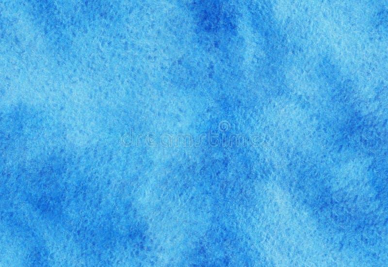 Nahtlose blaue Aquarellbeschaffenheit Hand gezeichneter Aquarellhintergrund Buntes Spritzen im Papier lizenzfreie stockbilder