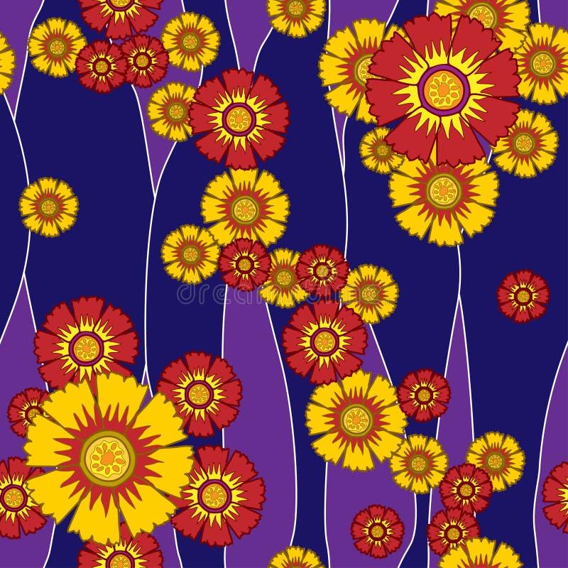 Nahtlose Blumen des Musters lizenzfreies stockfoto