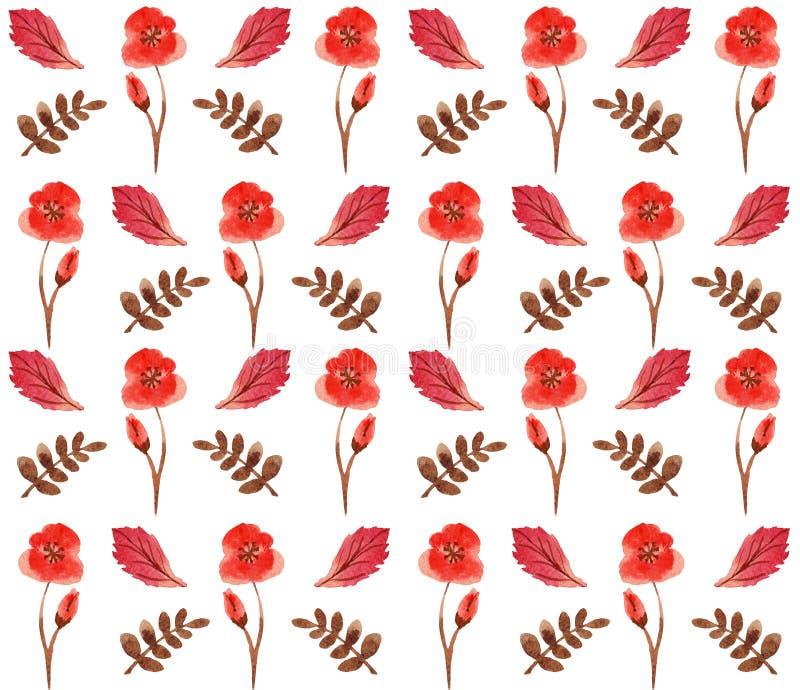 Nahtlose Blumenaquarellverzierung vektor abbildung