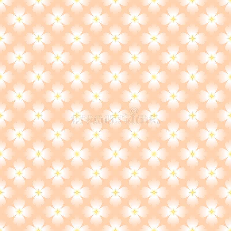 Nahtlose Blumentapete lizenzfreie abbildung