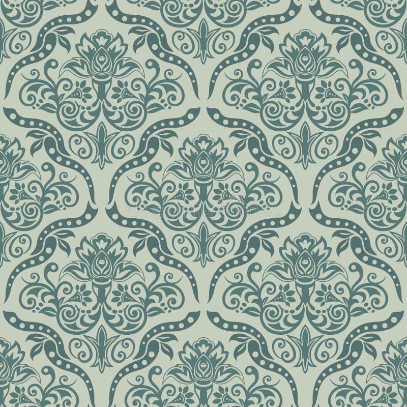 Nahtlose Damast-Tapete Nahtloses orientalisches Muster Klassiker VI vektor abbildung