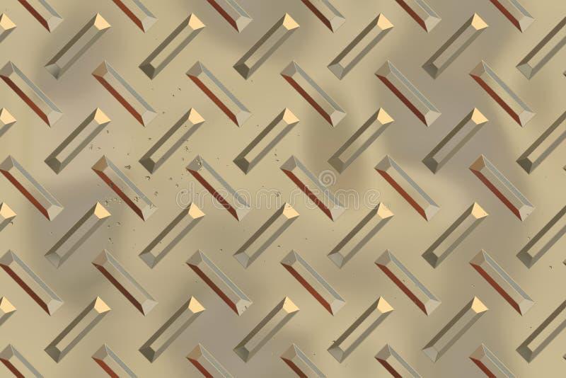 Nahtlose Diamantplattenbeschaffenheit stock abbildung