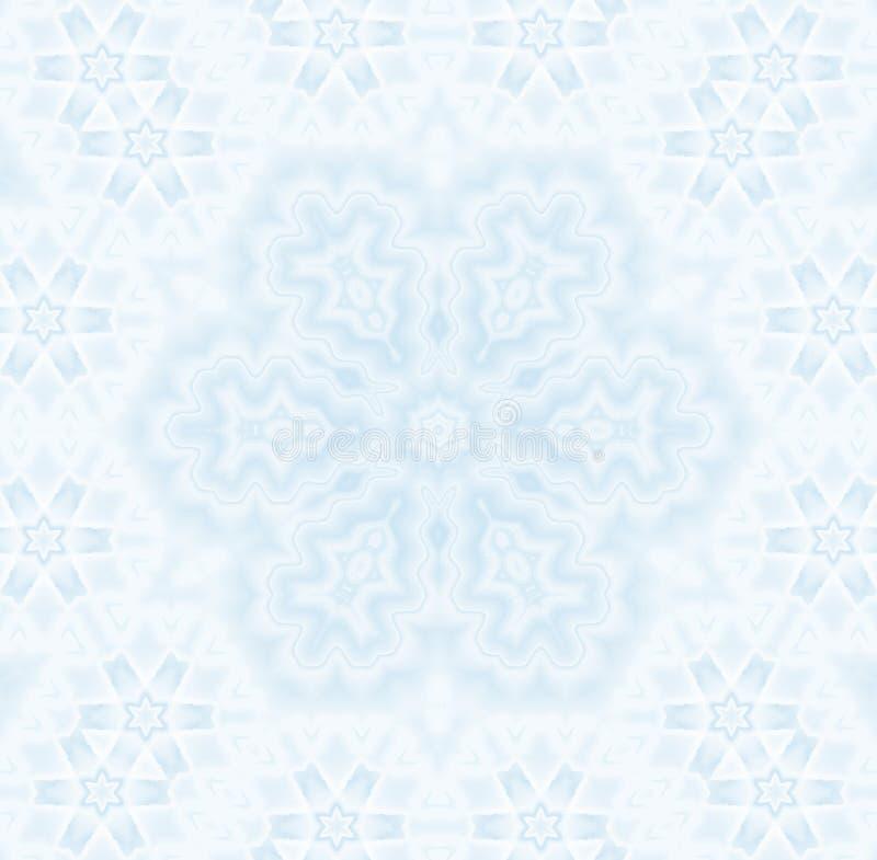 Nahtlose empfindliche Musterzusammenfassungsschneeflocke vektor abbildung