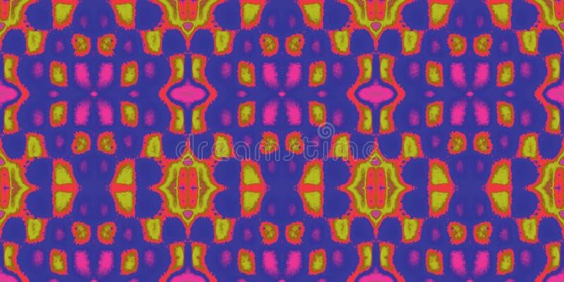 Nahtlose endlose wiederholende helle Verzierung von mehrfarbigen geometrischen Formen stock abbildung