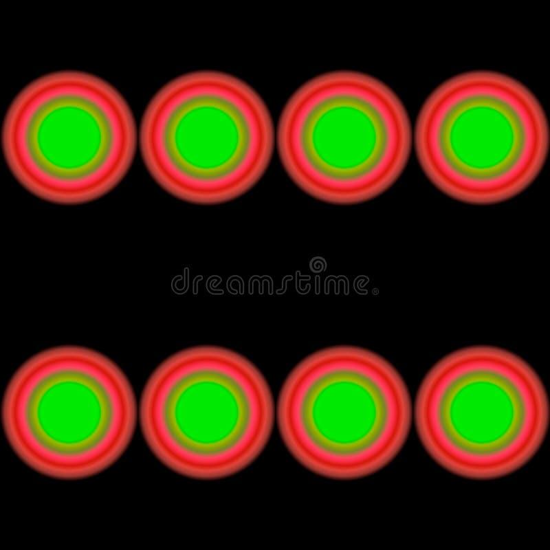 Nahtlose Fliese mit Leuchtstoff psychedelischen Kreisen Entwerfer Evgeniy Kotelevskiy lizenzfreie abbildung