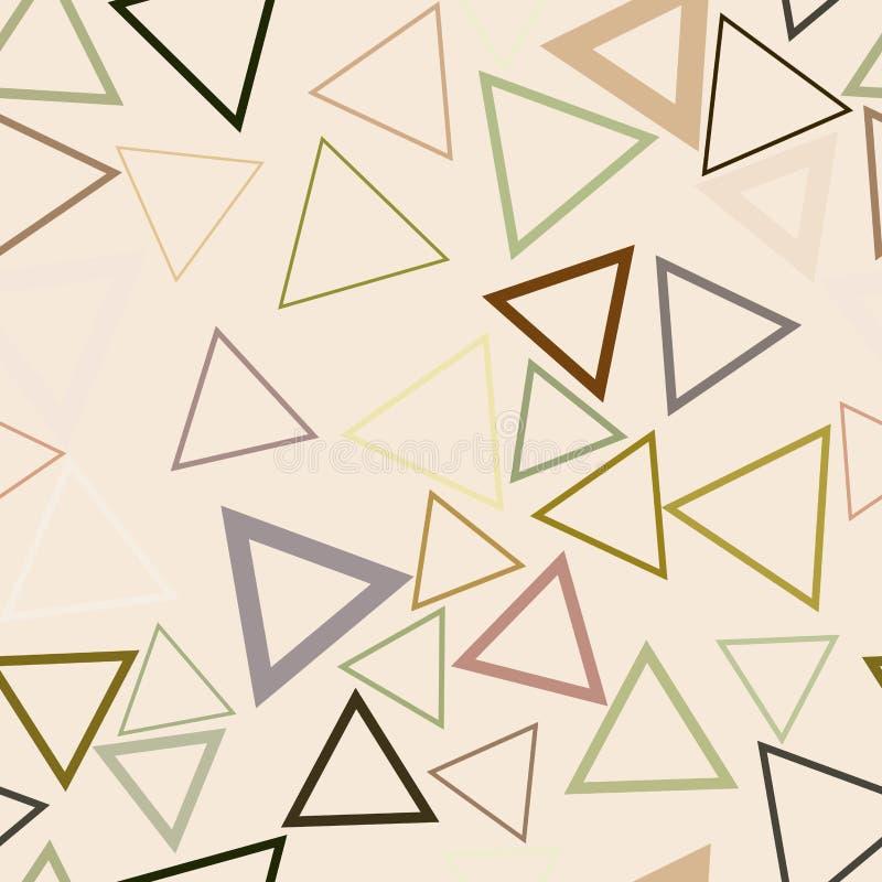 Nahtlose Form des Dreiecks, abstraktes geometrisches Hintergrundmuster Details, Konzept, Wiederholung u. unordentliches vektor abbildung