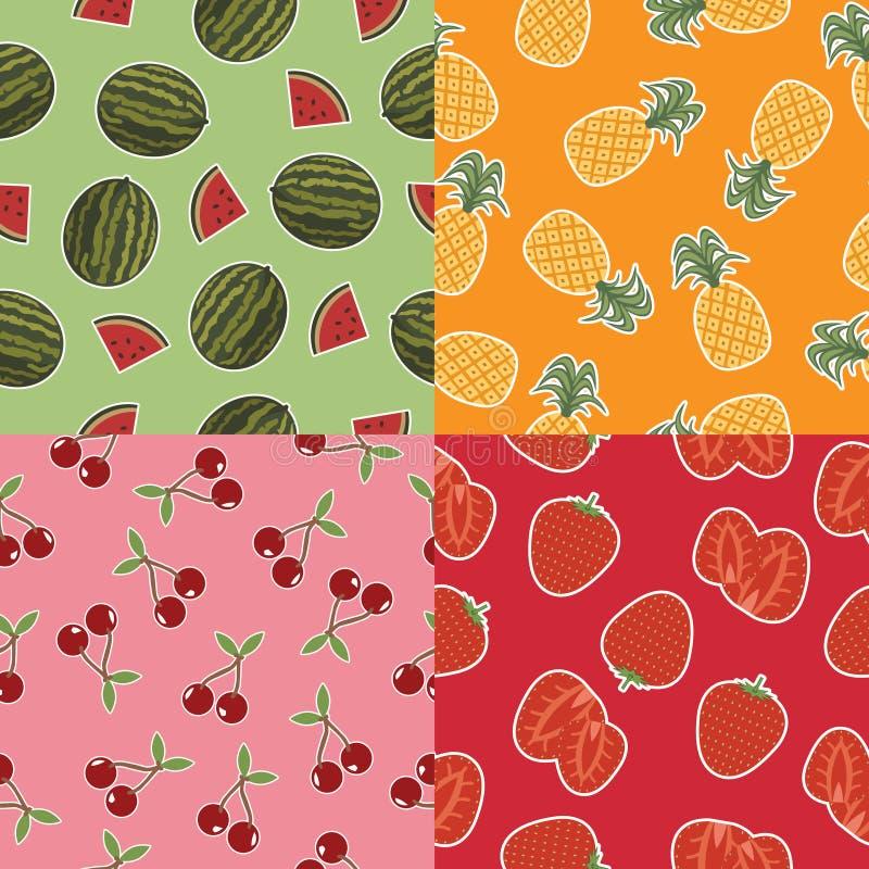 Nahtlose Fruchtmuster lizenzfreie stockfotos