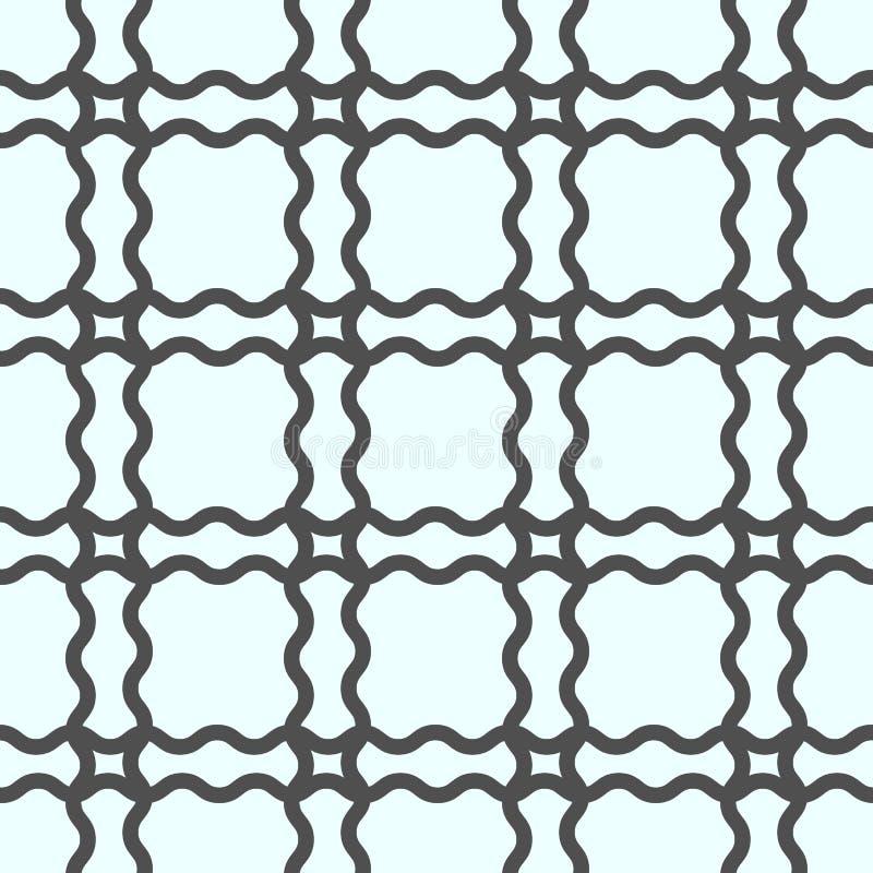 Nahtlose geometrische Linie Muster in der arabischen Art Wiederholen der linearen Beschaffenheit für Tapete, verpackend, Fahne, E lizenzfreie abbildung