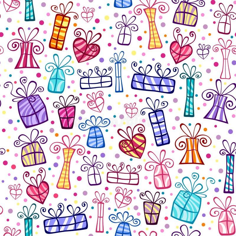 Nahtlose Geschenkkastenverzierung stock abbildung