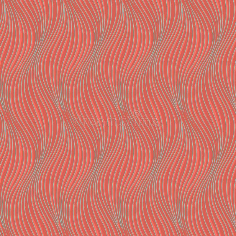 Nahtlose gewellte Hintergrundbeschaffenheit Innenwand- oder Tapetendekoration Wellen 3D oder nahtloses Muster des Zickzacks Vekto lizenzfreie abbildung