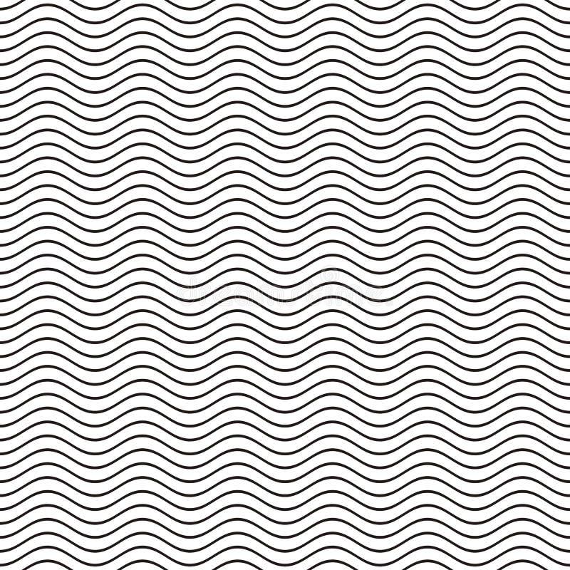 Nahtlose gewellte Linie Muster lizenzfreie abbildung