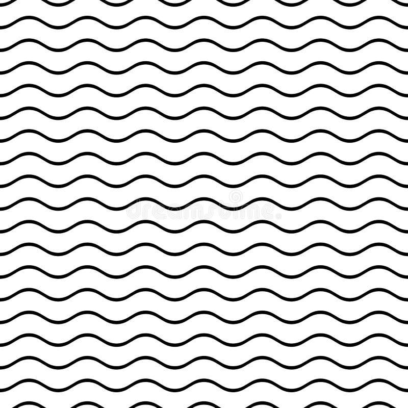 Nahtlose gewellte Linie Muster stock abbildung
